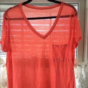 Xhilaration Sheer T Shirt Orange